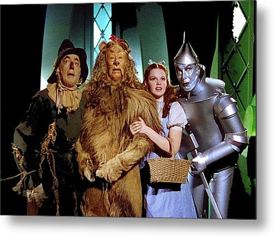 Judy Garland And Pals The Wizard Of Oz 1939-2016 Metal Print by David Lee Guss