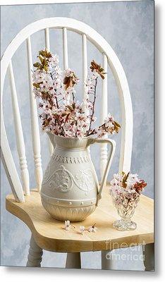 Jug Of Spring Blossom Metal Print by Amanda Elwell