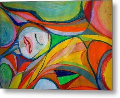 Metal Print featuring the pastel Jugular by Polly Castor