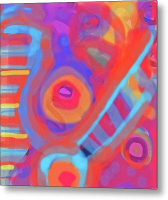 Metal Print featuring the painting Juicy Colored Abstract by Susan Stone