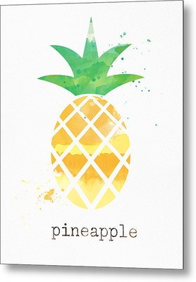 Juicy Pineapple Metal Print by Linda Woods