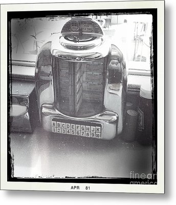 Metal Print featuring the photograph Juke Box by Nina Prommer