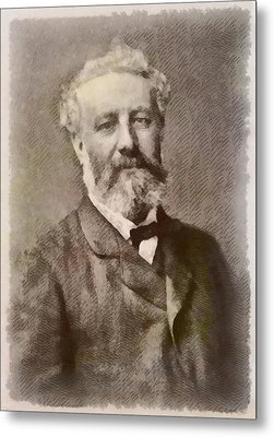 Jules Verne Author Metal Print