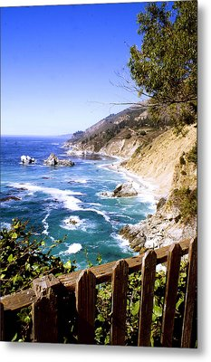 Metal Print featuring the photograph Julia Pfiffer Burns Coast by Gary Brandes