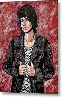 Metal Print featuring the painting Julian Casablancas Red by Sarah Crumpler