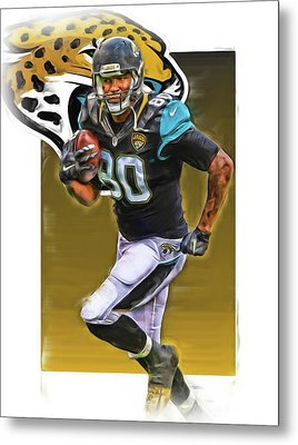 Julius Thomas Jacksonville Jaguars Oil Art Metal Print by Joe Hamilton