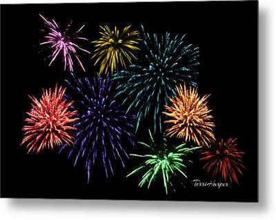 July Fireworks Montage Metal Print