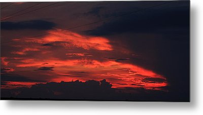 July Sunset Metal Print by Dave Clark