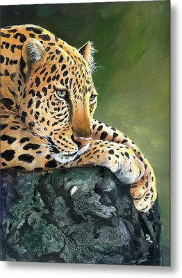 Metal Print featuring the painting Jumanji by Sherry Shipley