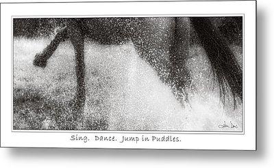 Jump In Puddles Metal Print by Joan Davis