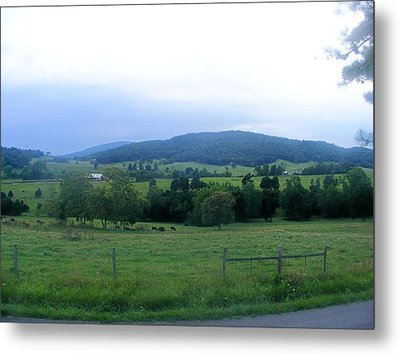 Jump Mountain Valley Metal Print
