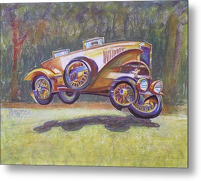 Jumpin Auburn Car Metal Print
