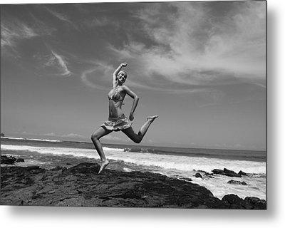 Jumping Metal Print by Cesar Marino