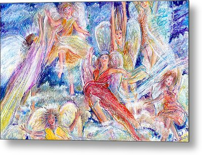 Jumping For Joy Angels Metal Print by Laurie Parker