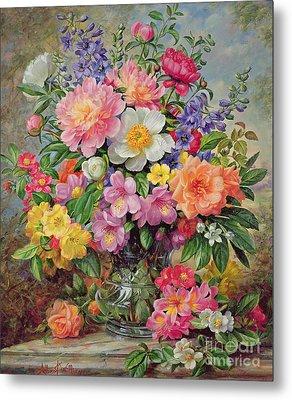 June Flowers In Radiance Metal Print by Albert Williams