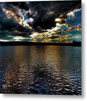 Metal Print featuring the photograph June Sunset On Nicks Lake by David Patterson