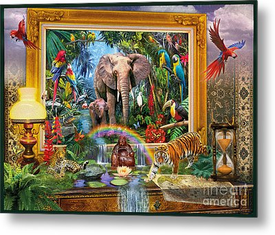 Jungle Coming Metal Print