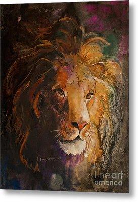 Jungle Lion Metal Print by Sherry Shipley