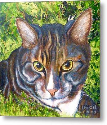 Jungle Tabby Metal Print by Susan A Becker