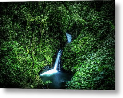 Jungle Waterfall Metal Print by Nicklas Gustafsson