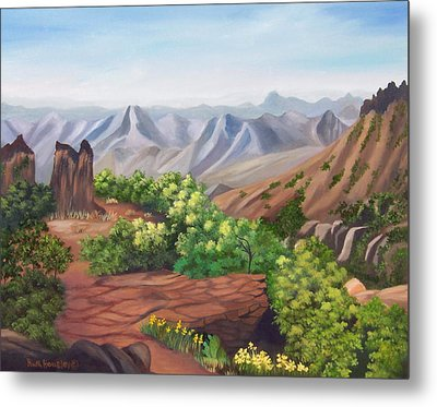 Juniper Canyon   Lost Mine Trail Metal Print by Ruth  Housley