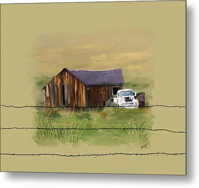Metal Print featuring the painting Junk Truck by Susan Kinney
