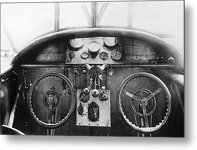 Junker Plane Cockpit Metal Print by Underwood Archives