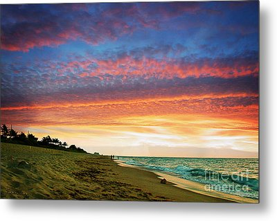 Juno Beach Florida Sunrise Seascape D7 Metal Print by Ricardos Creations