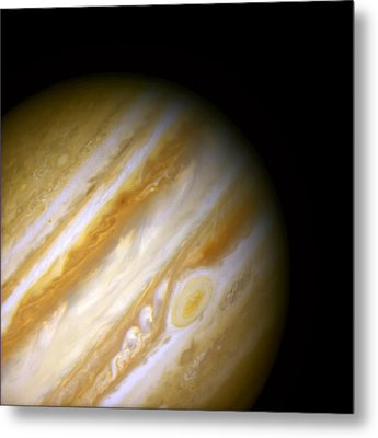 Jupiter And The Great Red Spot Metal Print by Jennifer Rondinelli Reilly - Fine Art Photography