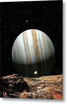 Jupiter Seen From Europa Metal Print