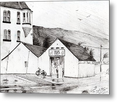 Jura Race Start Whiskey Distillery Metal Print by Vincent Alexander Booth