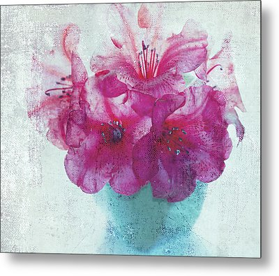 Just A Bowl Of Flowers Metal Print by Rebecca Cozart