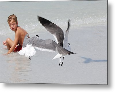 Just A Day At The Beach Jdabp Metal Print