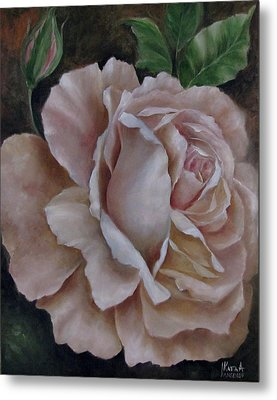 Just A Rose Metal Print by Katia Aho