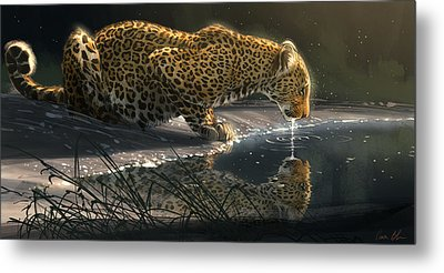 Just A Sip Metal Print by Aaron Blaise