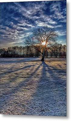 Just After Sunrise On A Cold Morning Metal Print