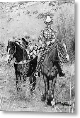 Just Another Western Workday Metal Print