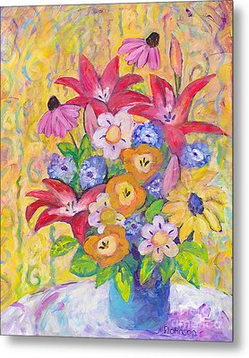 Just Because Bouquet Metal Print by Peggy Johnson