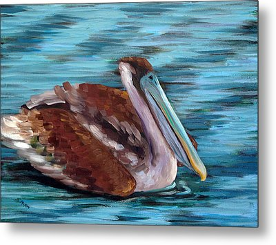 Metal Print featuring the painting Just Cruisin by Suzanne McKee