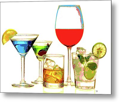 Just Give Me A Drink Metal Print by Charles Shoup