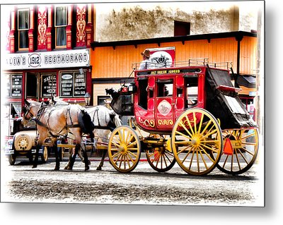 Metal Print featuring the photograph Just Horsin Around by Lana Trussell