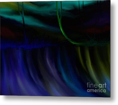 Metal Print featuring the painting Just Like A Waterfall by Rushan Ruzaick