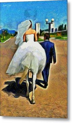 Just Married - Da Metal Print by Leonardo Digenio
