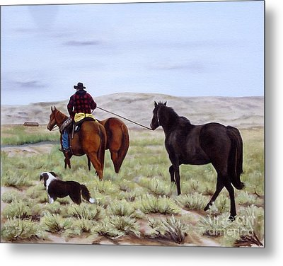 Just Might Rain Metal Print by Mary Rogers