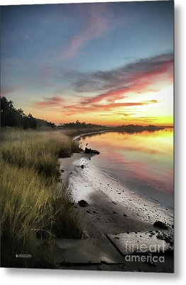 Just The Two Of Us At Sunset Metal Print by Phil Mancuso