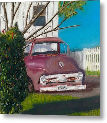 Just Up The Road Metal Print by Arlene Crafton