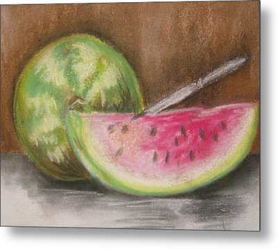 Just Watermelon Metal Print by Leslie Manley