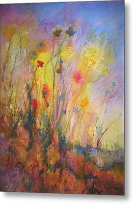 Just Weeds Metal Print by Mary Schiros
