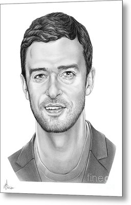 Justin Timberlake Metal Print by Murphy Elliott
