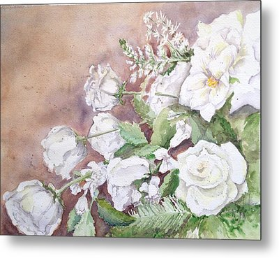 Justin's Flowers Metal Print by Marilyn Zalatan